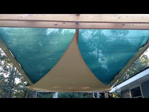Build Your Patio Cover With Decorative Sun Sails! DIY