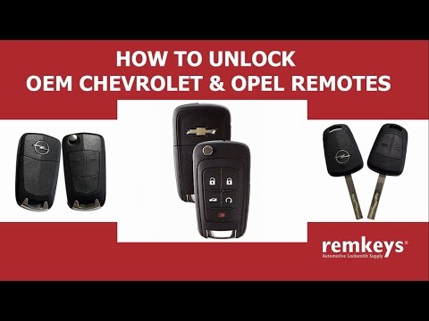 How to Unlock OEM Opel & Chevrolet & Vauxhall Remotes (PCF7941)