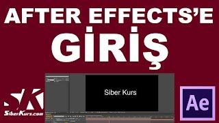 After Effects& 39 e Giriş Arayüz ve Temel İşlevler After Effects Dersleri