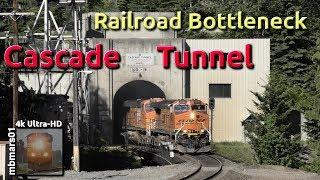 [62][4k] Railroad Bottleneck Cascade Tunnel, BNSF Northern Transcon, WA 06/14+15/2018 ©mbmars01