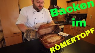 🍞 Brot backen im Römertopf 🍞 (XL Version)