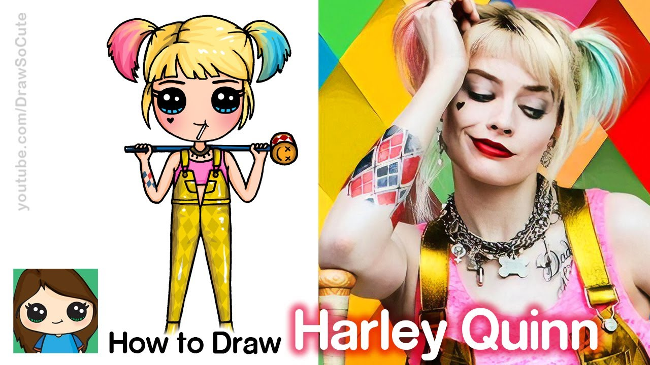 How To Draw Harley Quinn Birds Of Prey Youtube