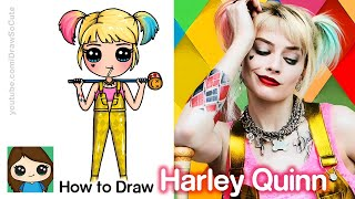 How to Draw Harley Quinn | Birds of Prey