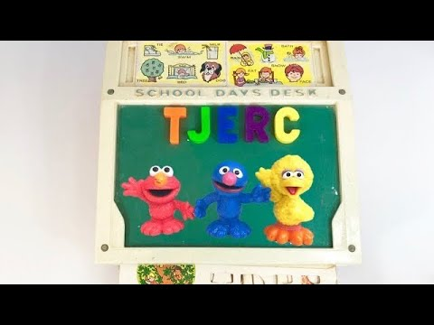 Vintage FISHER PRICE School Days Desk LEARNING With SESAME STREET Toys!