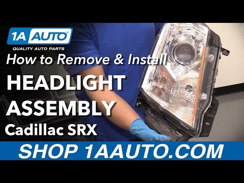 How to Remove Install Headlight Assembly 2013 Cadillac SRX