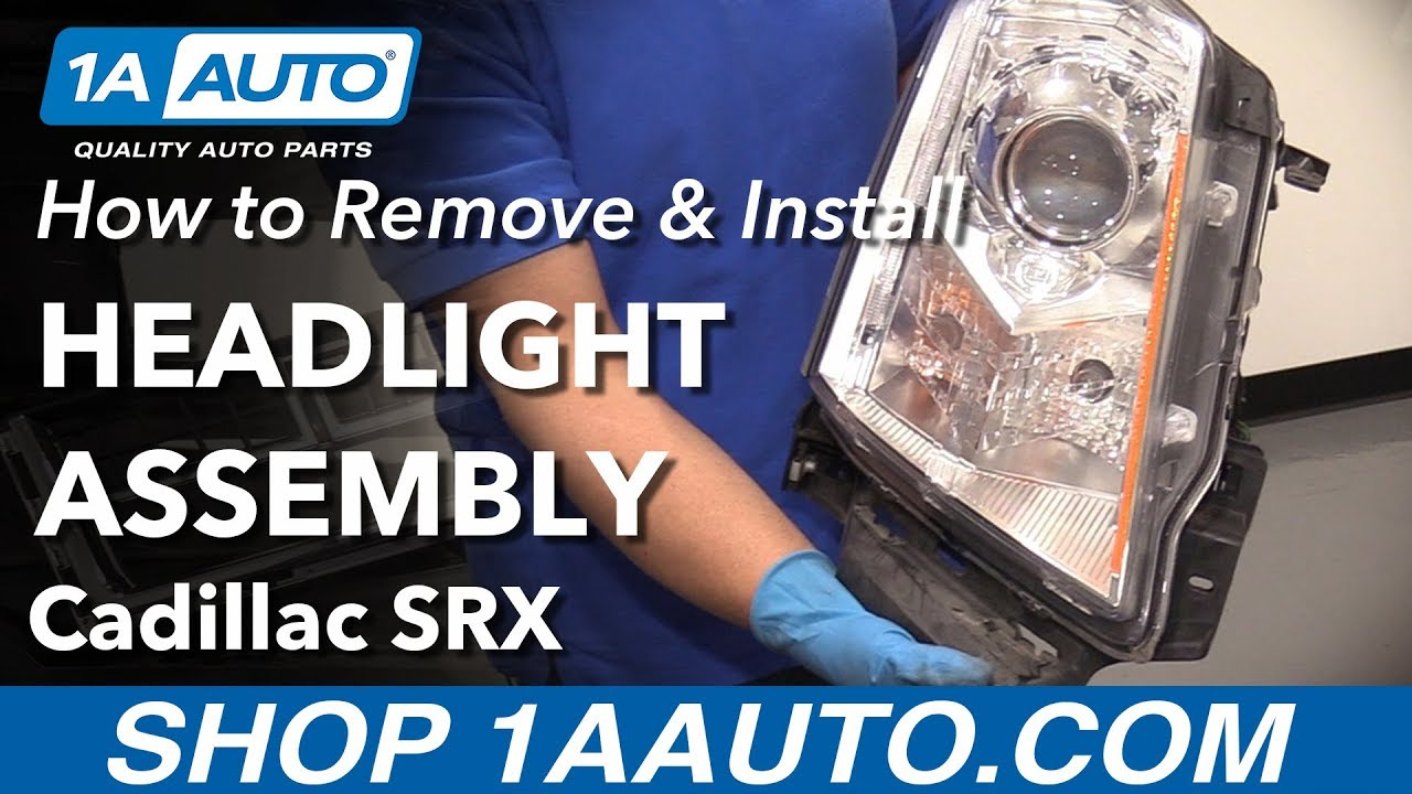 how to replace headlights 10 13 cadillac srx 1a auto parts [ 1280 x 720 Pixel ]