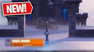 FORTNITE NEW KINGS SWORD GAMEPLAY! FORTNITE NEW KINGS SWORD ITEM! FORTNITE BATTLE ROYALE!
