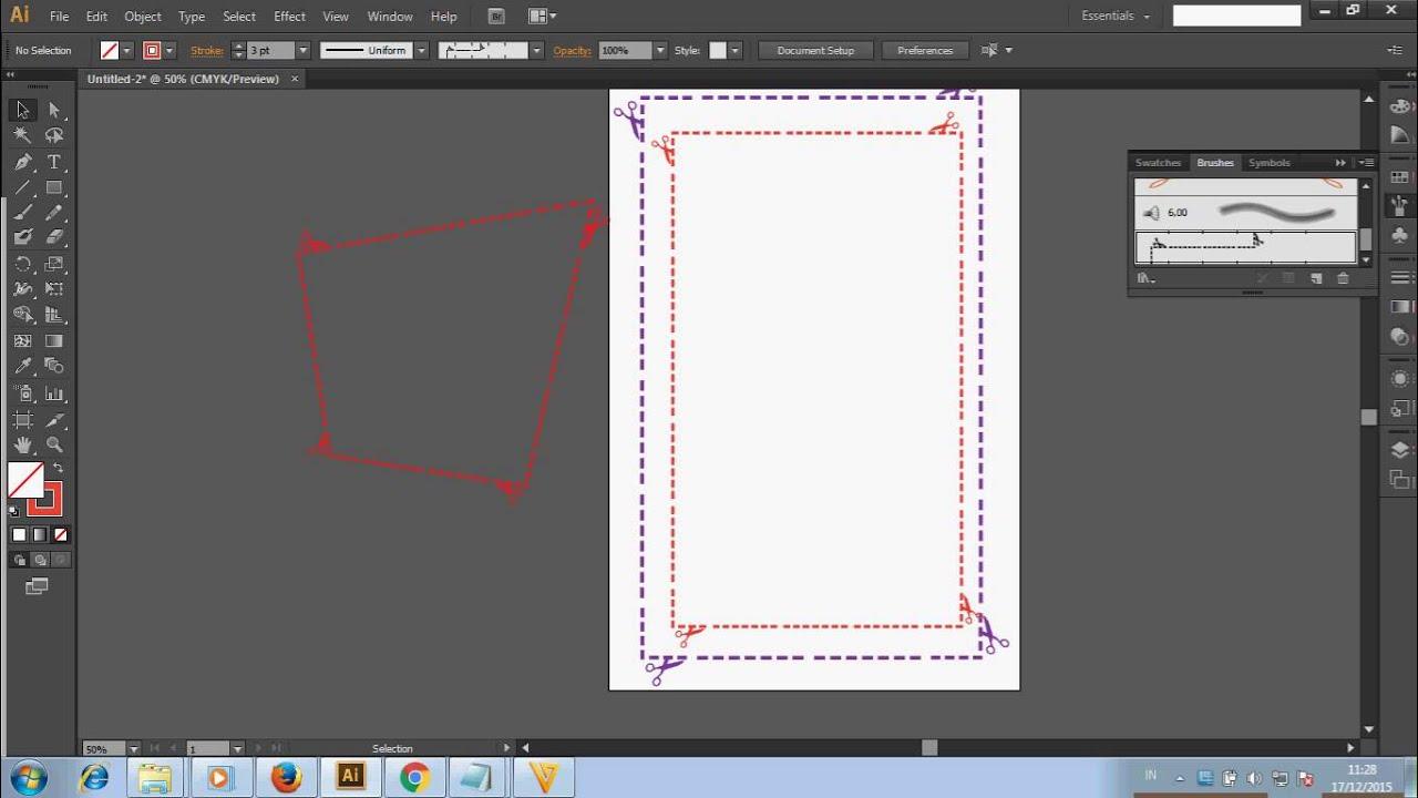 Tutorial Adobe Ilustrator Membuat Garis Putus Putus Youtube
