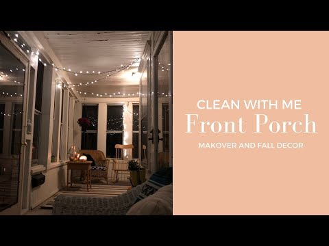 PORCH MAKEOVER | Cozy Fall Front Porch Tour and Clean With Me!