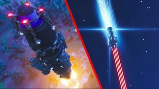 INSANE FORTNITE MISSILE ROCKET LAUNCH!! (What is inside the rocket?!)