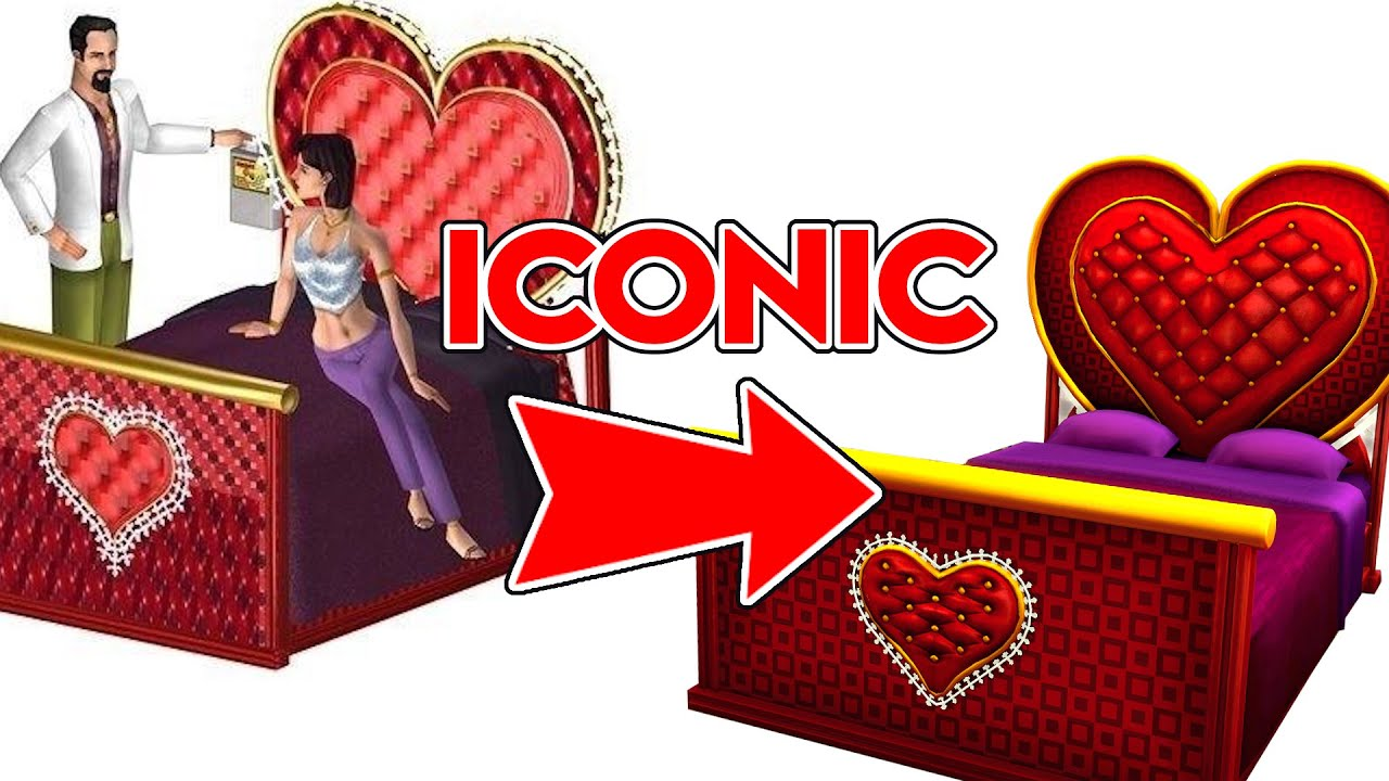 An Icon Re Made For The Sims 4 Heart Shaped Bed Mod Review Youtube