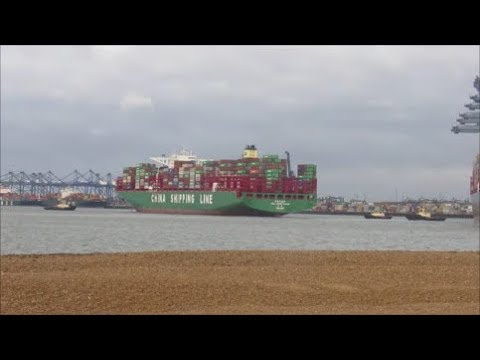 Ultra large CSCL Indian Ocean arrives to the Port of Felixstowe  27th November 2017