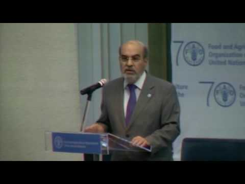 José Graziano da Silva addresses the opening of the 5th World Forest Week
