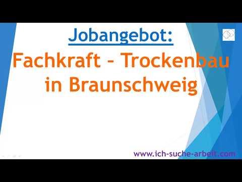 Jobangebot Fachkraft - Trockenbau in Braunschweig
