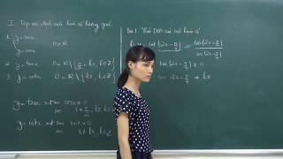 Toán 11- Tìm tập xác định của hàm số lượng giác
