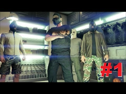 HE FELL FROM THE SKY! - (GTA 5 Heists Funny Moments #1)