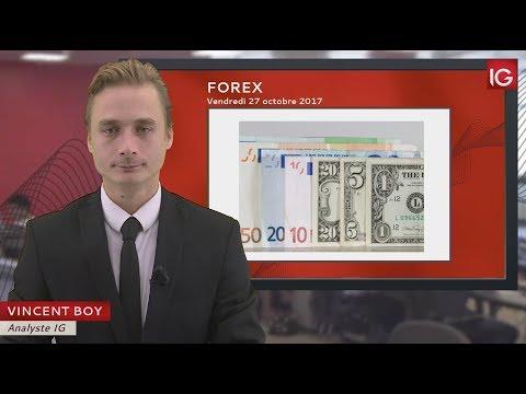 Bourse - EUR/USD, La Faiblesse Du Dollar Fait Chuter Le Cross - IG 27.10.2017