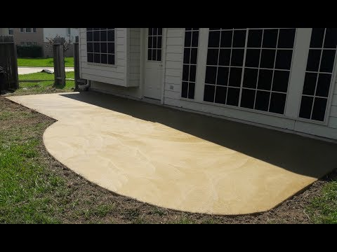 Integrally Colored Concrete Patio - Cypress TX - Artisan Concrete & SurfaceWorks
