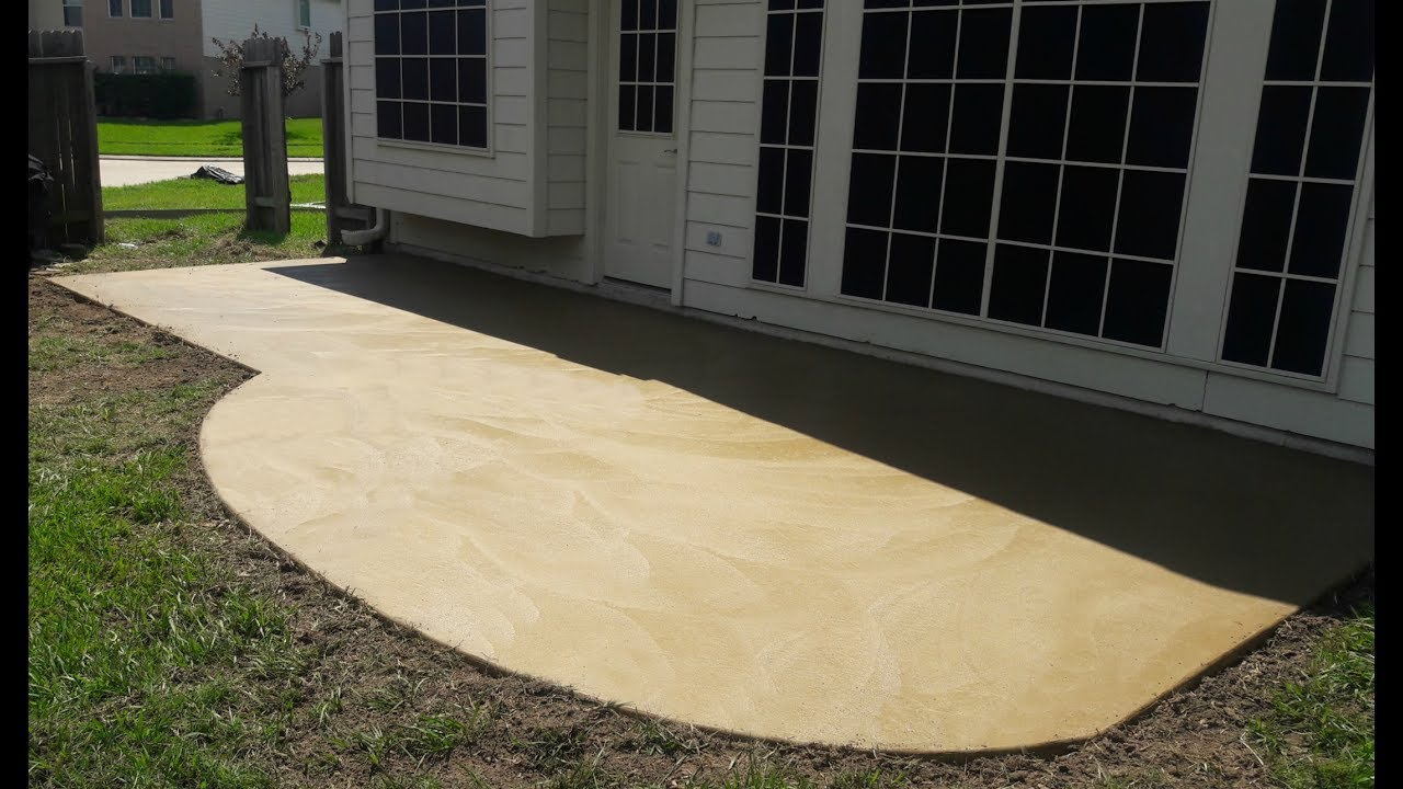 Colored Concrete Patio   Cypress TX   Artisan Concrete U0026 SurfaceWorks