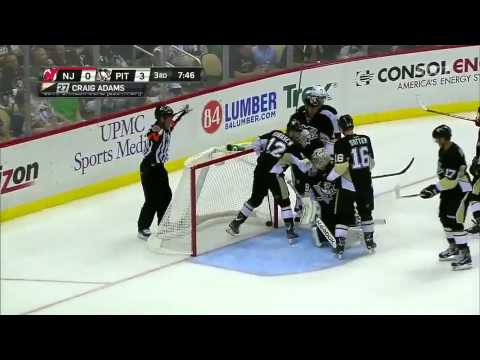 Marc-Andre Fleury Sick Behind the Back Save 10/3/13