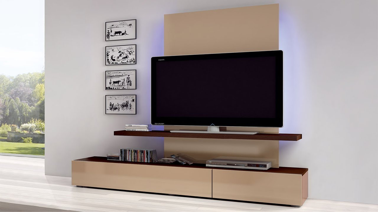 Modern wall mount tv corner stand ideas 2018 tv unit - Hanging tv on wall ideas ...