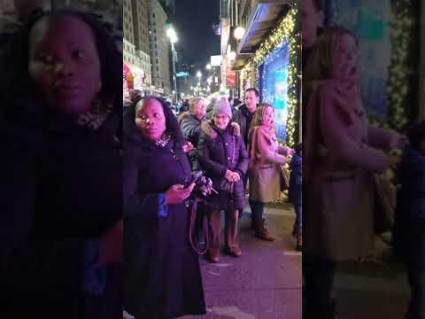 A New York City View Of Macy's Christmas Windows.  December 2019