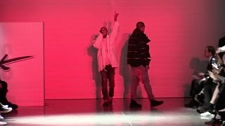 tyga performs in front of kylie jenner at the vfiles fashion show in new york city