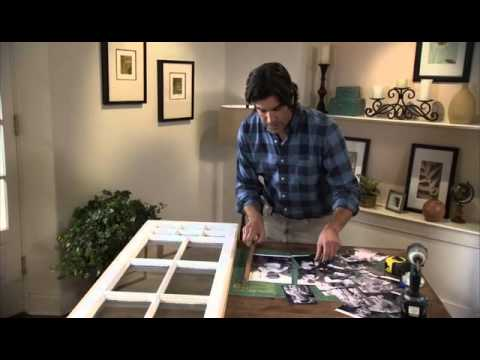How to Make a Picture Frame from a Window Sash - YouTube