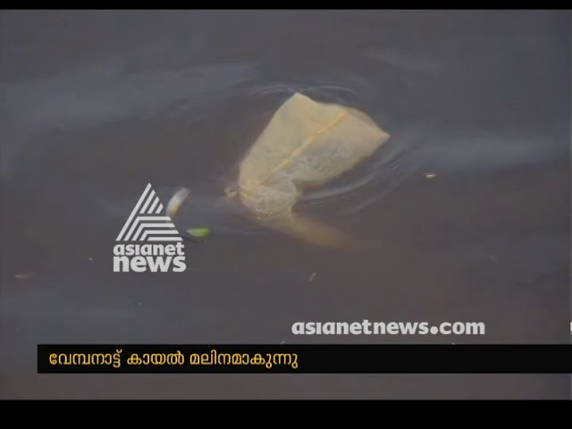Wastes from house boat and houses dumping in Vembanad Lake