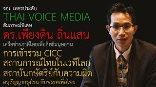 """""""ภาคีไทย""""สะท้อนการละเมิดสิทธิมนุษยชนในไทยต่อที่ประชุม CICC สหประชาชาติ"""