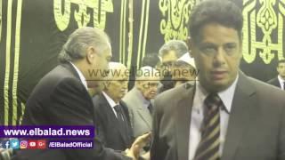 أحمد شوبير في عزاء حما العامري فاروق .. فيديو و صور