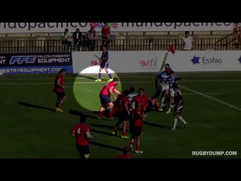 Chile prop gets knocked out by his own teammate's boot