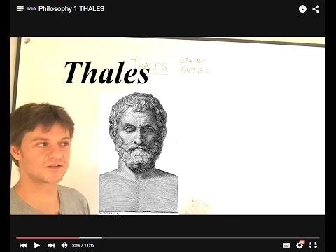 Philosophy 1 THALES