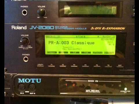 Roland JV2080 - A Quick Demo