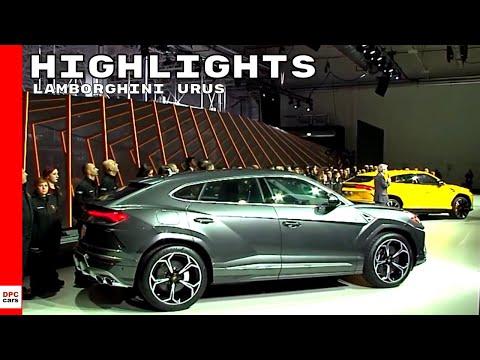 Lamborghini Urus Reveal Highlights