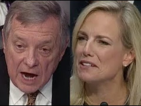 """WHAT DID TRUMP SAY ABOUT IMMIGRANTS??!!"" Dick Durbin GRILLS Trump Lackey Kirstjen Nielsen"