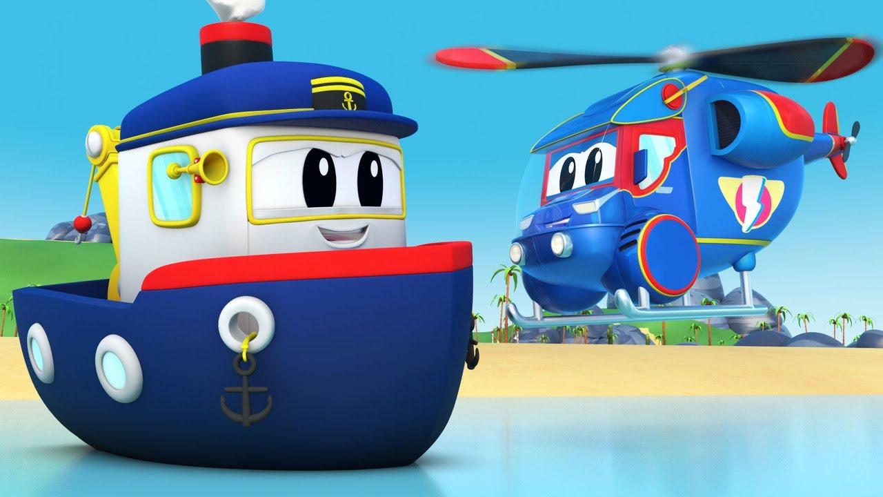 No llegues tarde al CUMPLEAÑOS de Bobby el Bote - Auto City - Dibujos Animados pora niños
