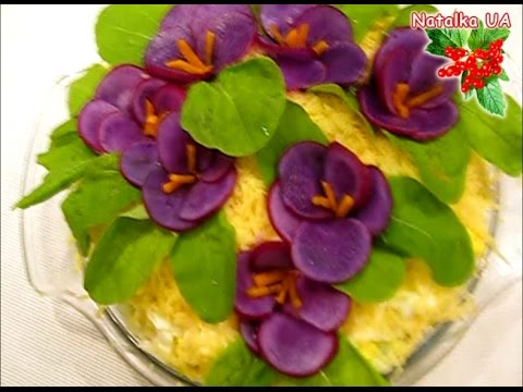 Beautiful salad decoration with flowers how to decorate for Decoration salade