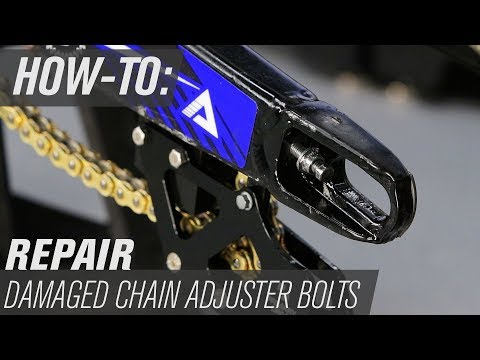 How To Repair Damaged Motorcycle Chain Adjuster Bolts