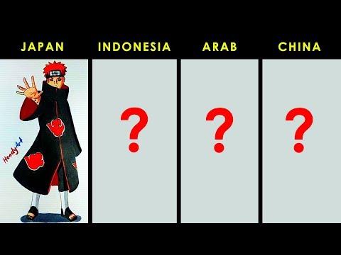 luar biasa... pain yahiko akatsuki versi 4 negara japan indonesia arab china