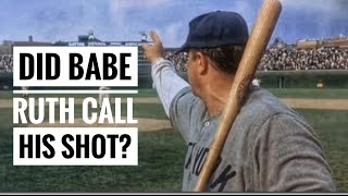 Did Babe Ruth Call His Shot? -Baseball Storytime