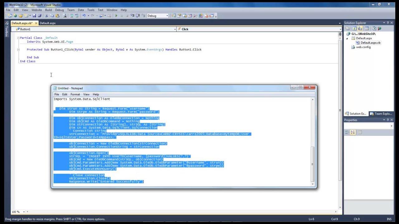 Updating records in sql vb net