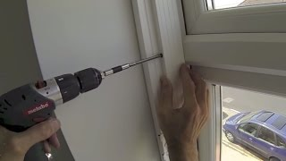 how to install interior vinyl shutters to a upvc recessed window fitting instructions