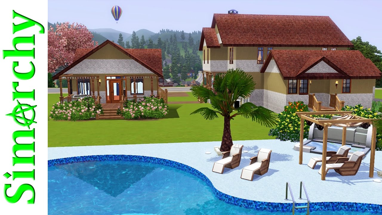 The sims 3 house tour victorian home with large yard for Pool design sims 3