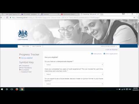 How to Apply for the Chevening Scholarships.