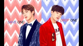 K-POP SAVE ONE DROP ONE (BOY VER) #1 |KPOP GAME|