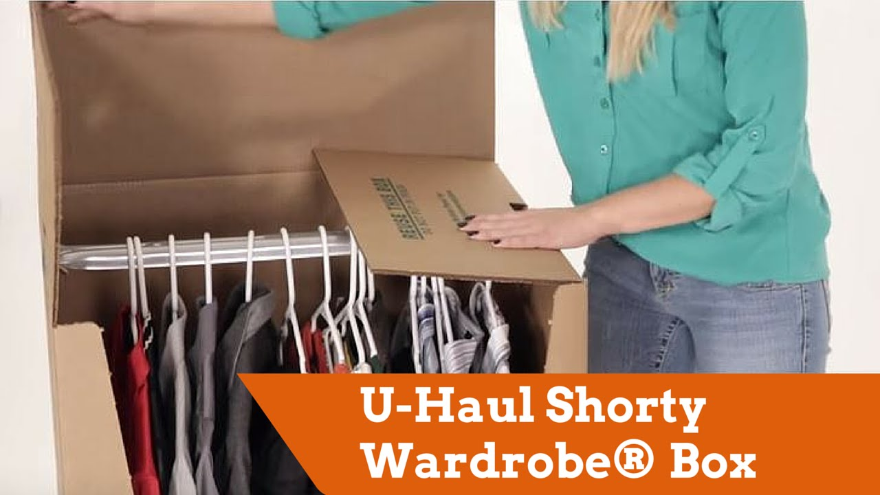 U Haul Shorty Wardrober Box Youtube
