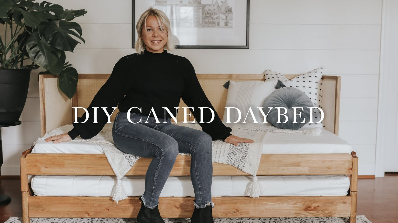 diy caned daybed ikea hack daytime sofa large night time guest bed