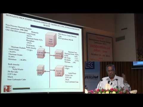 Thorium reserves – potential for power generation, exploration and mining by R.N. Patra at ThEC15