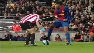 ronaldinho vs athletic bilbao 2006 2007 magical performance